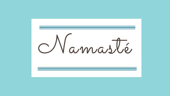 Namasté, une petite poésie